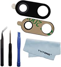 YUYOND Back Rear Camera Glass Lens Replacement with Adhesive for LG V30 H930 H931 H932 H933 H930DS LS998U VS996 US998 + Tools Set + Clean Cloth (Black)