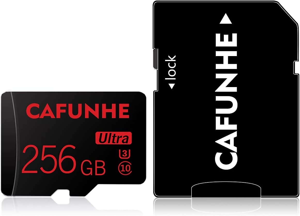 256GB Micro SD Card with Adapter (Class 10 High Speed), Memory Cards for Camera, TF Memory Card for Phone Computer Game Console, Dash Cam