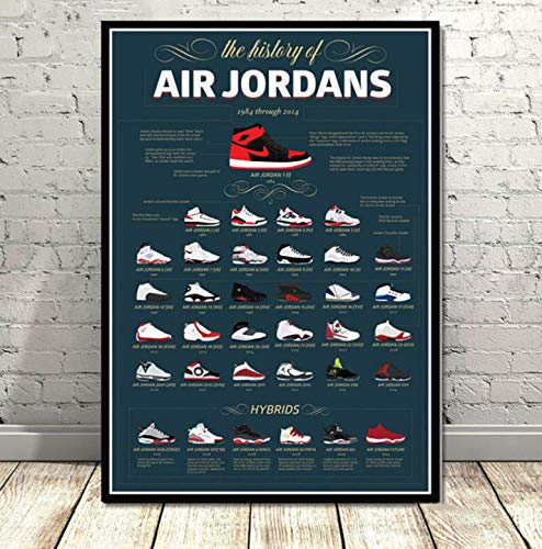 KGIDK Basketball Shoes Sneakers Art Poster Canvas Painting Murals Home Decoration Posters and Prints 42X60Cm No Frame