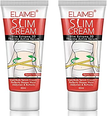 2 Pack Hot Cream, Body Fat Burning Cream, Cellulite Removal Cream, Weight Losing Cream, Anti-Cellulite Slim Massage Cream, Slim Cream for Shaping Waist, Abdomen and Buttocks from VINIMAY