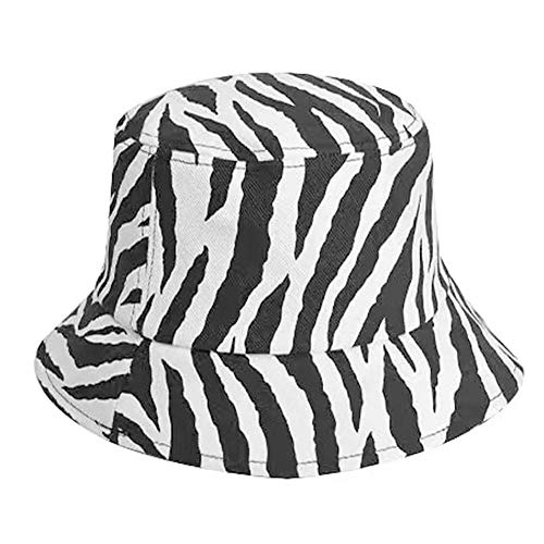La Cebra Raya Sombrero del Cubo De Mujeres del Verano del Casquillo del Hombre Algodón De Muchachas Aire Libre Beach Hombre De La Manera del Sombrero De Panamá