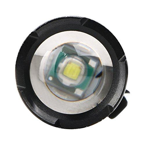 MuSheng TM tactique Police 12000lm Zoom XM-L T6/LED 5/modes lampe de poche lampe torche en aluminium Ensemble /éclairage de lampe /étanche pour ext/érieur Voyage Cyclisme randonn/ée Chasse