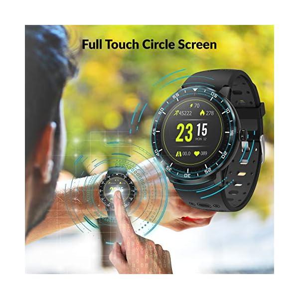 HopoFit Smartwatch Reloj Inteligente, HF06 Pantalla Táctil Completa Circular Impermeable Podómetro Pulsómetros, Monitor… 5