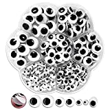 FANGZIDM 400 Piezas Ojos de Juguete Autoadhesivos 5mm -12mm para Bricolaje Scrapbooking Accesorios