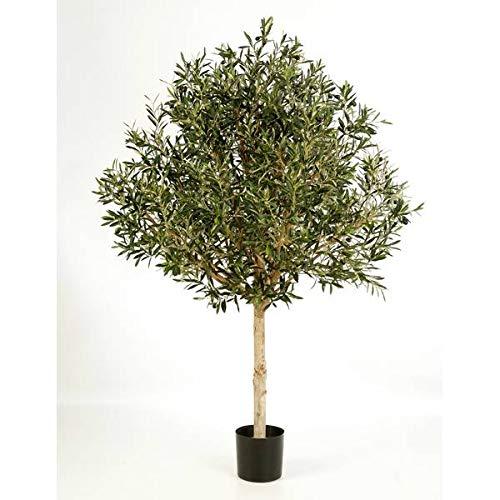 artplants.de Künstlicher Olivenbaum Hochstamm, 13728 Blätter, 210cm - Kunstbaum - Dekobaum