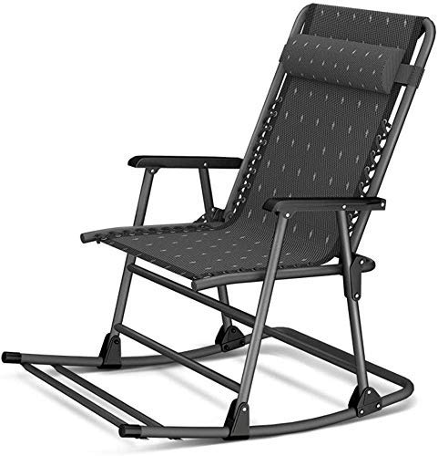 AWJ Rocking Zero Gravity Chair, Recliner Folding Patio Lounge Chair 350lbs Capacity Adjustable Lawn Chair with Headrest for Outdoor Camping Patio Lawn