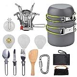 Camping Kit de utensilios de cocina de aluminio al aire libre Set de cocina de agua hervidor de agua olla Viajar Senderismo Picnic BBQ Vajilla Equipment-B_United States