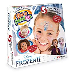 With Face Paintoos, it is simple to achieve great results every time. No artistic skills required! Face Paintoos don't smudge, they are quick and easy to apply and remove. Includes various Elsa, Ana, Olaf and Nokk face designs Removal wipes, applicat...