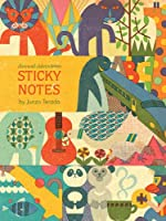Animal Adventures Sticky Notes (Sticky Notepad for Office or Desk, Vintage Inspired Illustrated Sticky Notes)
