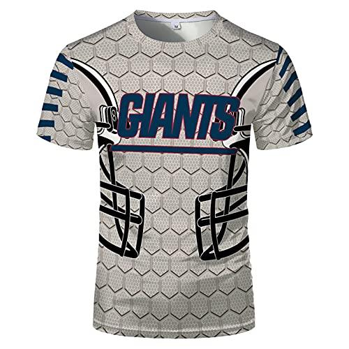 NFL Herren Sommer Kurzarm Rugby-Trikot Schnelltrocknend Rundhals Lässiges T-Shirt Rugby-Uniform,Grau,6XL