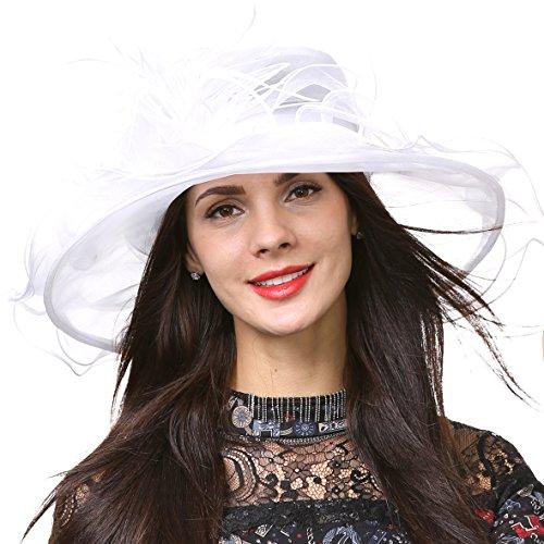 HISSHE - Pamela - para Mujer Blanco Blanco Medium