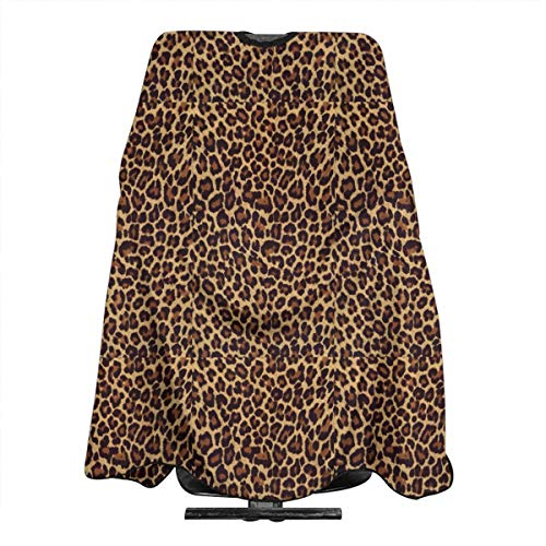Cool Leopard Print Hairdresser Hair Stylist Haircut Cover Salon Barbering Cape Shop Accessories Styling Cutting Kit Professional Cloth Women Men Adult