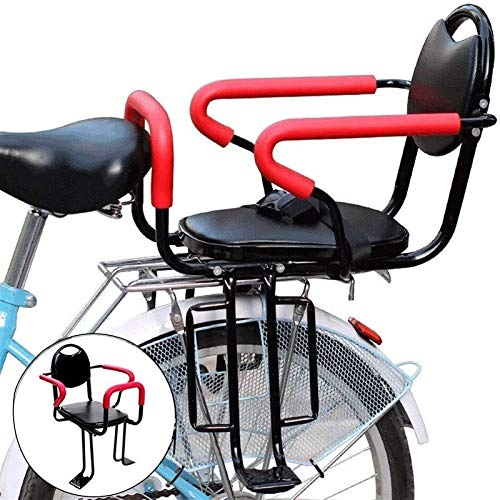 Bicycle Rear Seat for Baby Child With Pedal and Armrest Removable Stable Security Rear Mount Seat Thick Material Bike Chair Holder