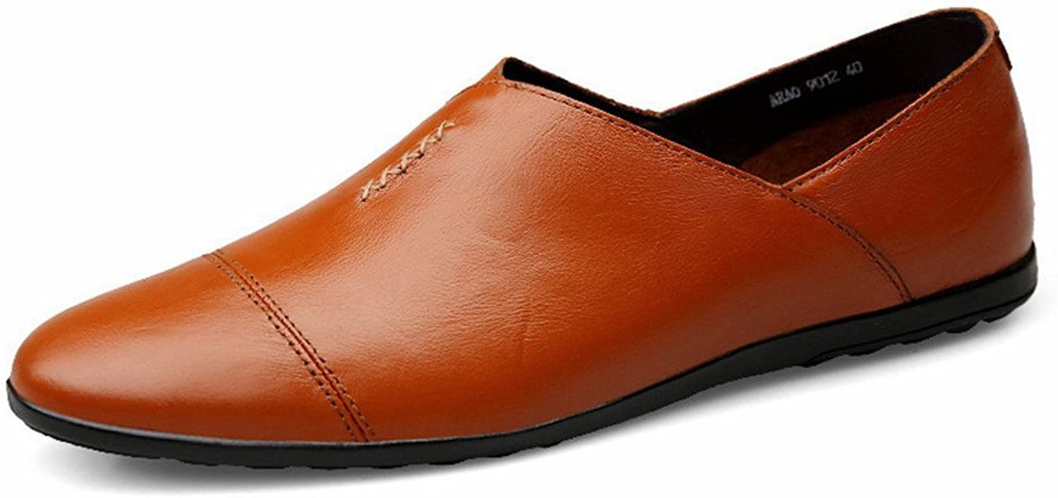 CHENXD shoes, Men's Fashion PU Leather Moccasins Flat Heel Slip on Driving Style Loafer