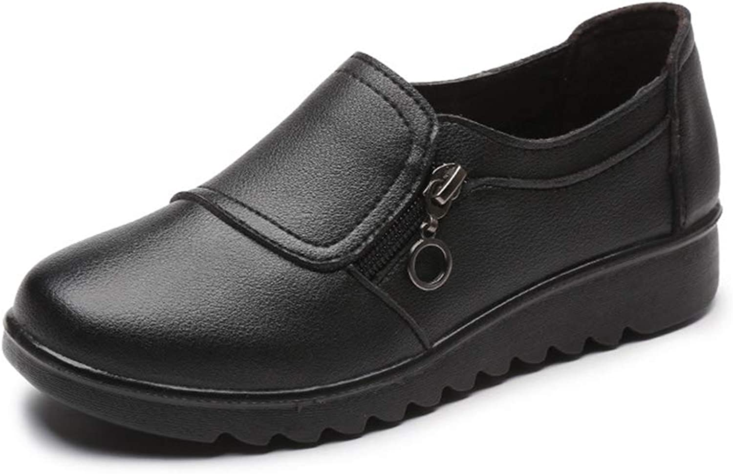York Zhu Women's Flats shoes,Slip On Flats Comfort Driving Office Loafer shoes Black