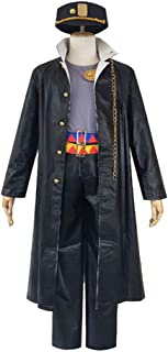 Kujo Jotaro Coat Pants Set Anime JoJo's Bizarre Adventure Cosplay Costume Adult Suit for Halloween Party