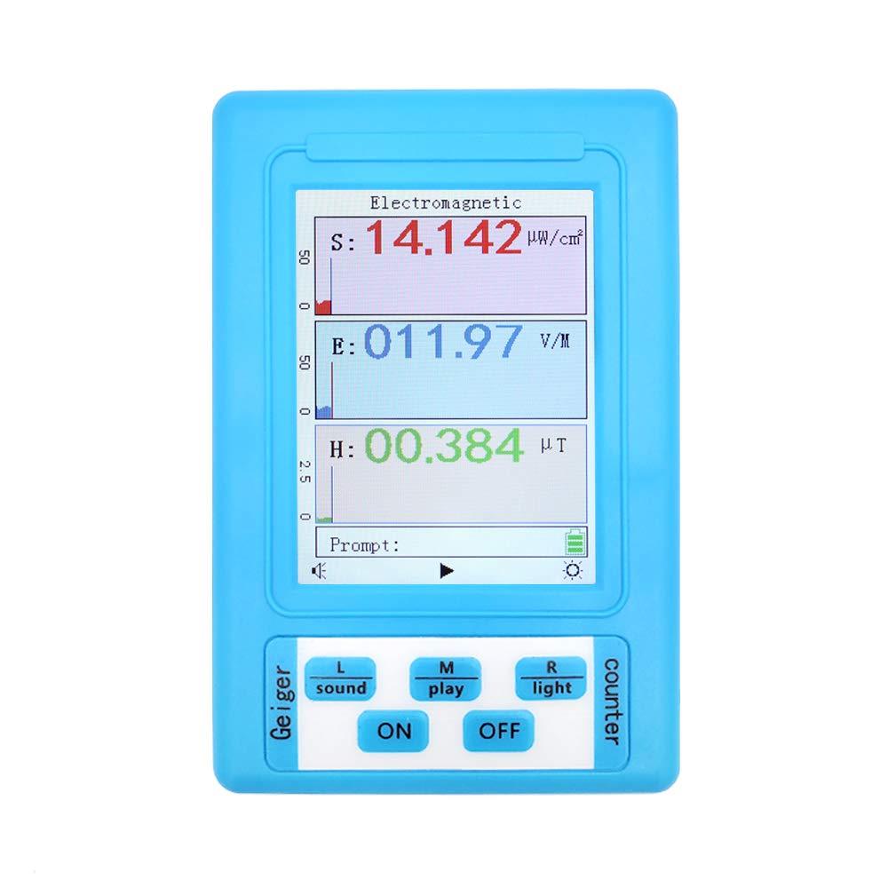 Riiai BR-9A Detector de Radiación Electromagnética EMF Medidor de Radiación Dosímetro Monitor Tester