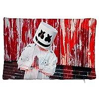 Marshmello ぬいぐるみの枕カバー デコールホーム 快適 抗菌防ダニ抗静電 ピロープロテクターケース レストラン 寝具 家 抱き枕カバー 20×30cm