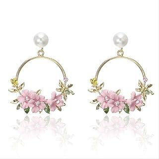 Zealite necklace stand white 2019 New Fashion Luxury Statement Earrings Big Geometric Round Circle Dangle Earring Sweet Fl...