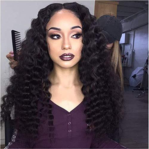 Perücke Frauen Perücken afrikanische kleine Rolle schwarz Instant Nudeln Perücke Chemiefaser vordere Spitzeperücke Kopfbedeckung