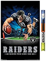 "Trends International Wall Poster NFL Las Vegas Raiders – End Zone, 22.375"" x 34"", Poster & Clip Bundle"