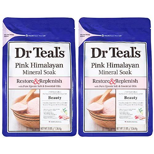 Dr Teal's(ティールズ) フレグランスエプソムソルト ピンクヒマラヤンソルト 入浴剤 1360g ×2個セット 1360...