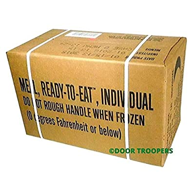 DOOR TROOPERS Long Term Foods Survival MRE (Meals Ready to Eat) Box A 2019, Real Genuine USA Military Surplus Food, Extended Shelf Life Preparedness - Meal Variety, Meats, Entrees - 15,000 Total cals