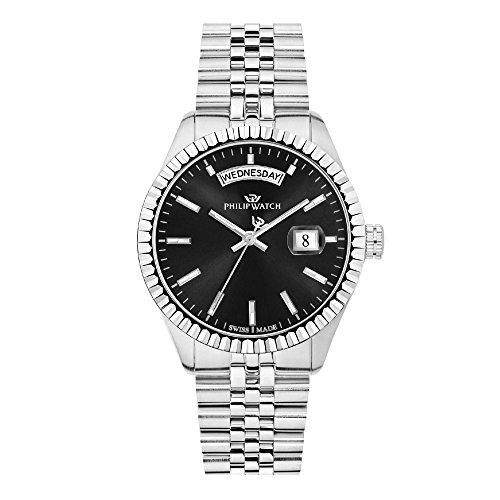 PHILIP WATCH Herren Analog Quarz Uhr mit Edelstahl Armband R8253597033