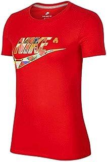 Nike 耐克女装上衣 春季 运动服休闲圆领透气纯棉舒适短袖时尚跑步T恤