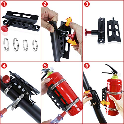 MFC Adjustable Roll Bar Mount Bottle Holder Fit for Jeep Wrangler TJ JK JKU JL UTV Polaris RZR Ranger,Aluminum