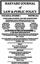 Harvard Journal of Law & Public Policy, Volume 35, Issue 1 (Pages 1 - 452)