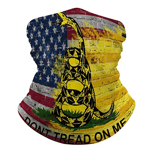 Dont Tread On Me American Flag Neck Gaiter Mask Cooling Summer Face Cover Scarf Breathable Bandana Seamless Balaclavas Headband for Dust Outdoors Fishing Sports Running