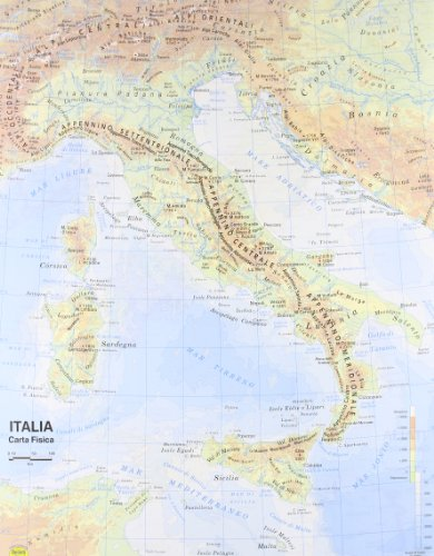 Carta Geografica Italia 1:800.000