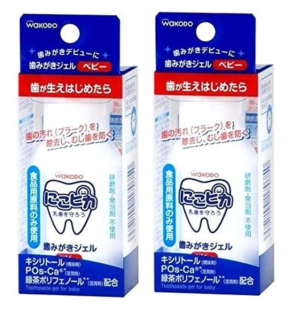 広々女の子残忍なにこピカ 歯みがきジェル ベビー 45ml × 2個
