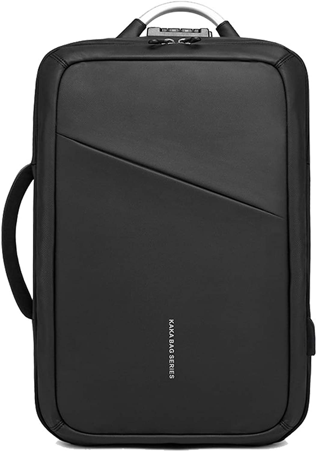 CUKKE Unisex Oxford AntiTheft Chargeable Backpack Business Laptop Backpack Black