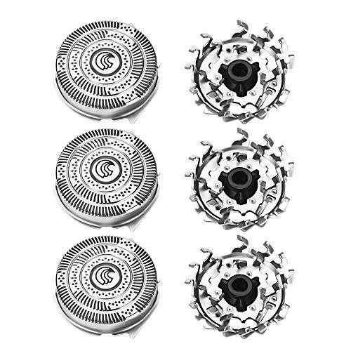 Cabezales de Afeitado Electrica Cuchilla de Afeitar Reemplaz Rejilla Cuchilla espátula Maquinilla de Afeitar Recambio Accesorio para HQ9 HQ8 HQ9090 HQ9080 HQ9097 HQ8240 PT920 PT927
