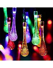Euch Outdoor Globe Lichtketting, outdoor waterdicht 30 LED kristallen bol Solar lichtsnoeren, tuin, hek, Kerstmis, bruiloft, party decoratie verlichting, ... (waterdruppel-veelkleurig)