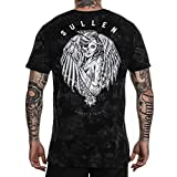 Sullen Men's Sinners & Saints Premium Short Sleeve T Shirt Black/Gray Crystal Wash 3XL