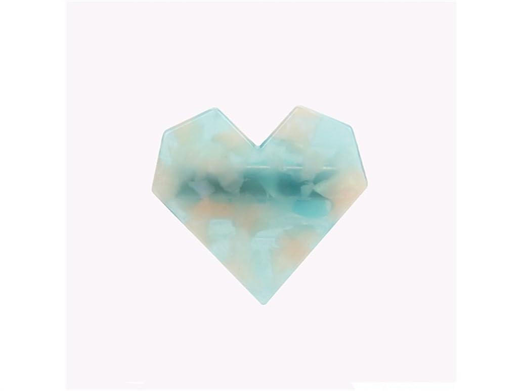 額静脈溶接Osize 美しいスタイル ファッションガールヘアピンラブハートシェイプダックビルクリップヘアピンアクセサリー(ブルー)