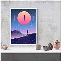 アートパネル ZXYFBH サンセットキャンバスプリント写真壁アートワーク絵画家の装飾リビングルーム用モジュラー登山ポスター11.8x15.7in(30x40cm)x1pcsフレームなし