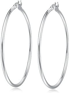 Best silver hoop earrings big Reviews