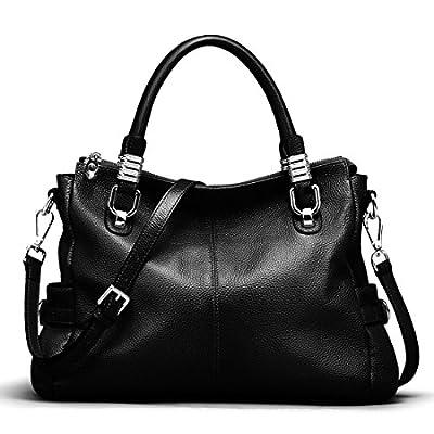 S-ZONE Women's Vintage Genuine Leather Handbag Shoulder Bag Satchel Tote Bag Purse Crossbody Bag
