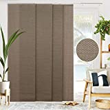 CHICOLOGY Sliding Door Blinds , Blinds for Sliding Glass Doors , Vertical Blinds for Patio Doors , Sliding Glass Door Blinds , Room Divider , Woven Truffle (Natural Woven) W:46-86 x H: 0-96 inch