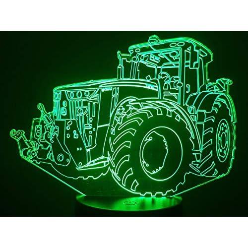 J. DEERE, Lampada illusione 3D con LED - 7 colori.