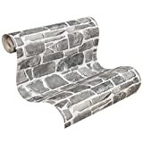 Rasch 265620 Papier peint Collection pierres et bois Gris