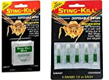 Sting-Kill Disposable Swabs (5 per pack) & Wipes (8 per pack) Bundle
