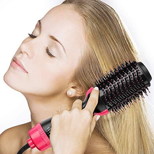CGBF-2 in 1 Warmluftbürste Heißluftbürste Kamm Fönbürste One Step Haartrockner & Volumizer Styler Pinsel Negativ Ionen Curly Haare Kämmen Reduzieren Statische und Frizz Geeignet für Alle Art Haar