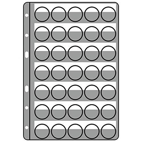 Hojas de plástico COMPART para 35 placas de cava/chapas, transparentes, paquete de 5