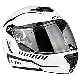 KLIM TK1200 Karbon Modular Helmet ECE/DOT SM Traverse White