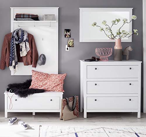 trendteam smart living  Garderobe Garderobenkombination 4-teiliges Komplett Set Ole, 197 x 192 x 35 cm in Weiß mit viel Stauraum
